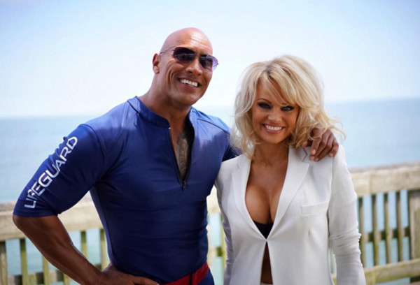 Dwayne Johnson, The Rock, Pamela Anderson