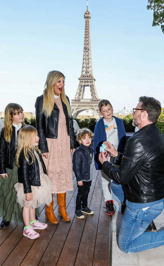 Tori Spelling Gets Another Marriage Proposal From Dean McDermott This Time With Their Kids