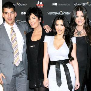 Rob Kardashian, Kris Jenner, Kim Kardashian, Khloe Kardashian
