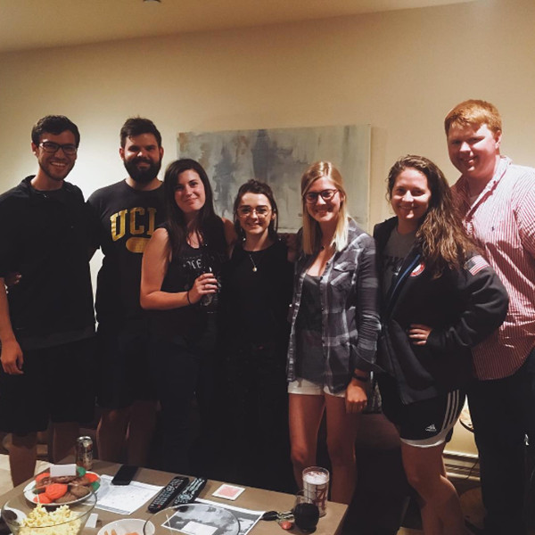Maisie Williams Crashes A Game Of Thrones Viewing Party In