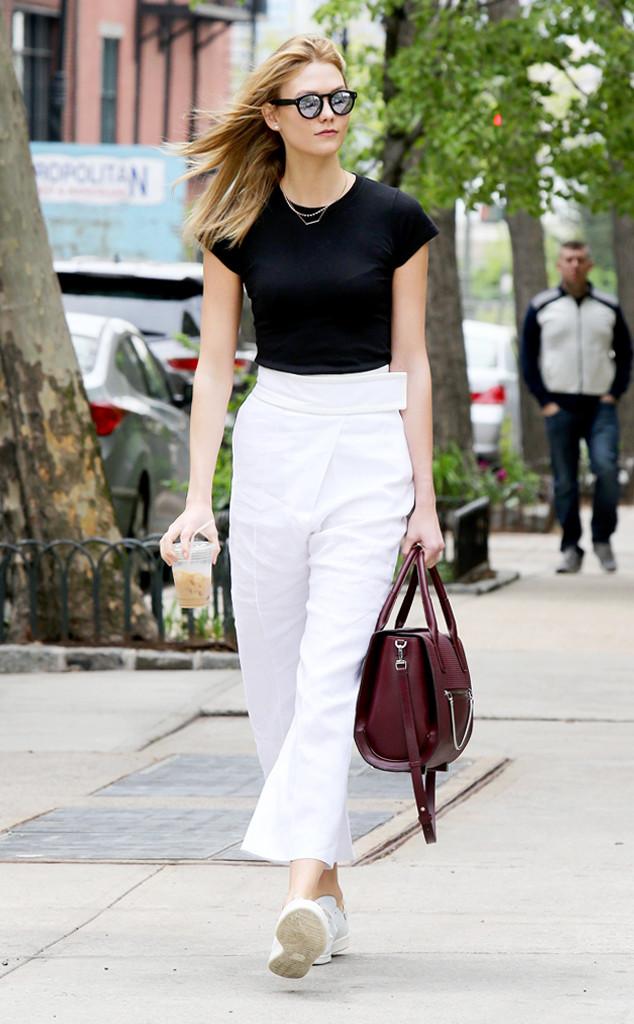 Dare to Wear: Karlie Kloss' Risky White Pants