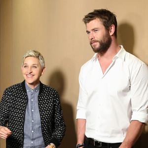 Ellen DeGeneres, Chris Hemsworth