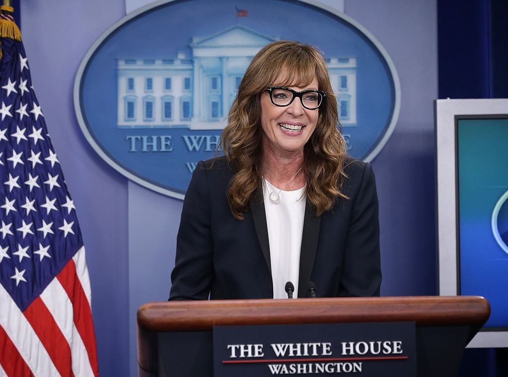 allison janney revives the west wing 39 s c j cregg at the white house for a very good cause e news. Black Bedroom Furniture Sets. Home Design Ideas