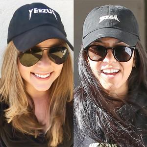 Carrie, Kourtney, Yeezus Hat