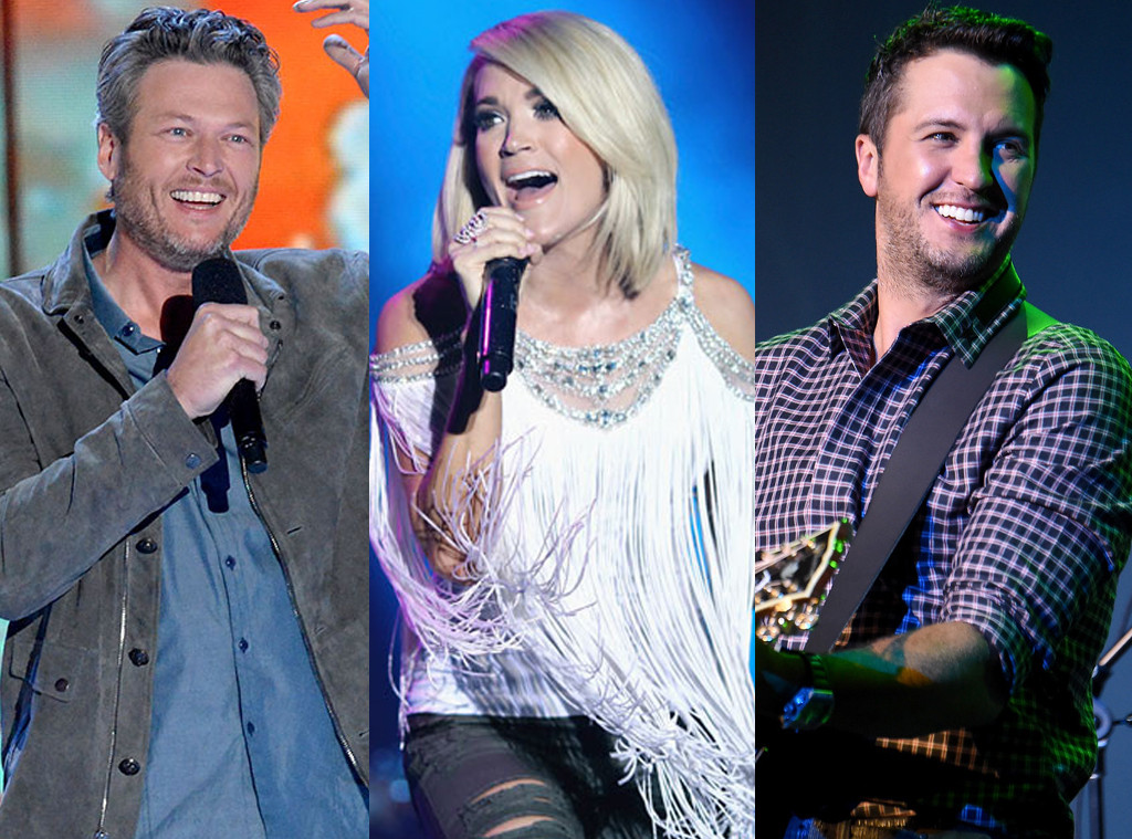 Carrie Underwood, Blake Shelton, Luke Bryan