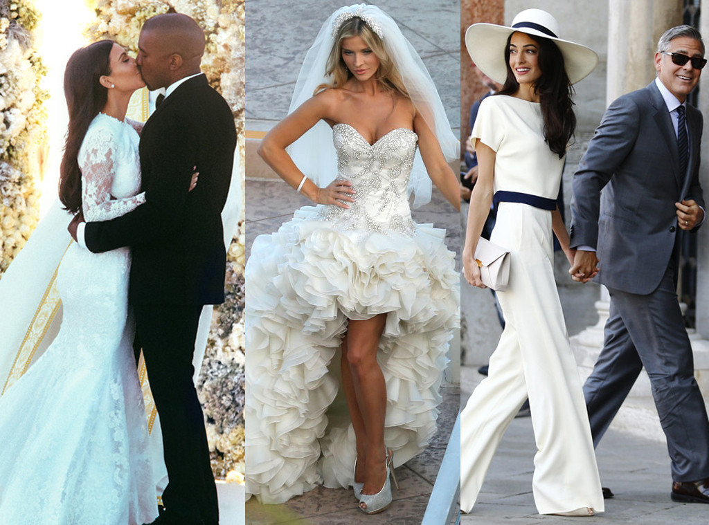 Weddings Johanna Krupa George Clooney Amal Kim Kardashian Kanye West