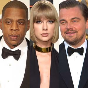 Jay-Z, Taylor Swift, Leonardo DiCaprio