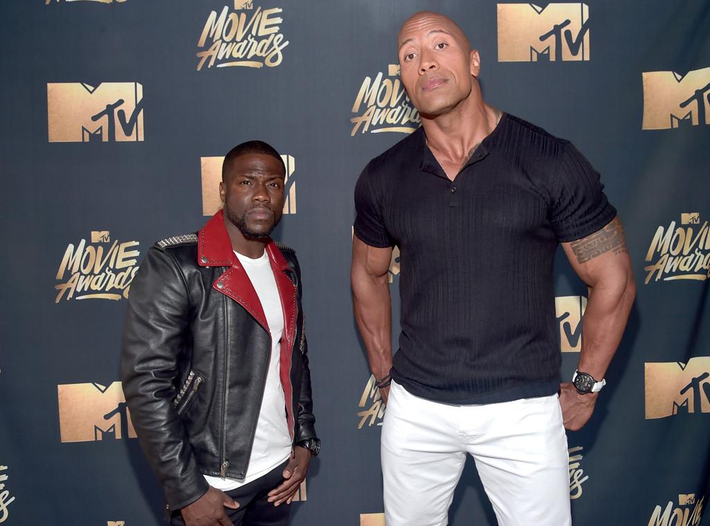 Kevin Hart, Dwayne Johnson, MTV Movie Awards 2016