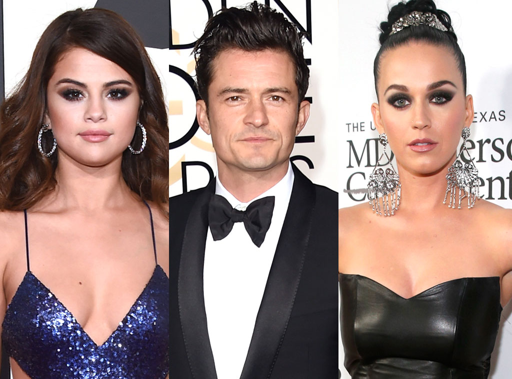 Katy Perry, Selena Gomez, Orlando Bloom