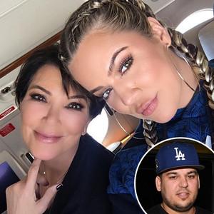 Khloe Kardashian, Kris Jenner, Rob Kardashian