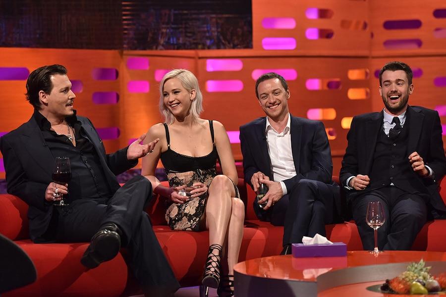 Johnny Depp, Jennifer Lawrence, Jack Whitehall, James McAvoy, Graham Norton Show