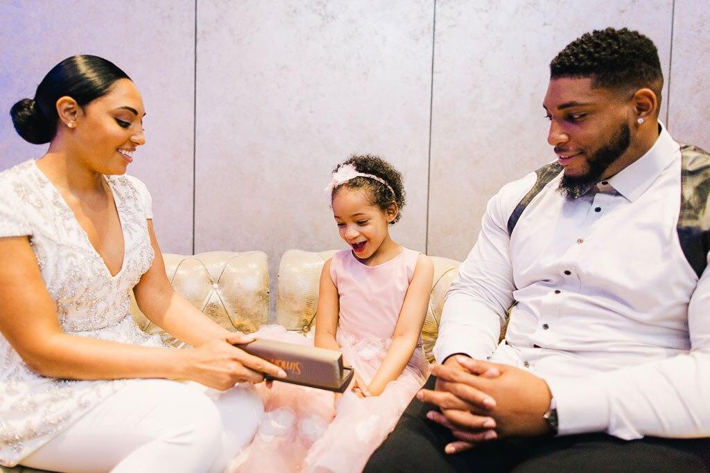 Devon Still, Asha Joyce, Daughter Leah Still, Wedding