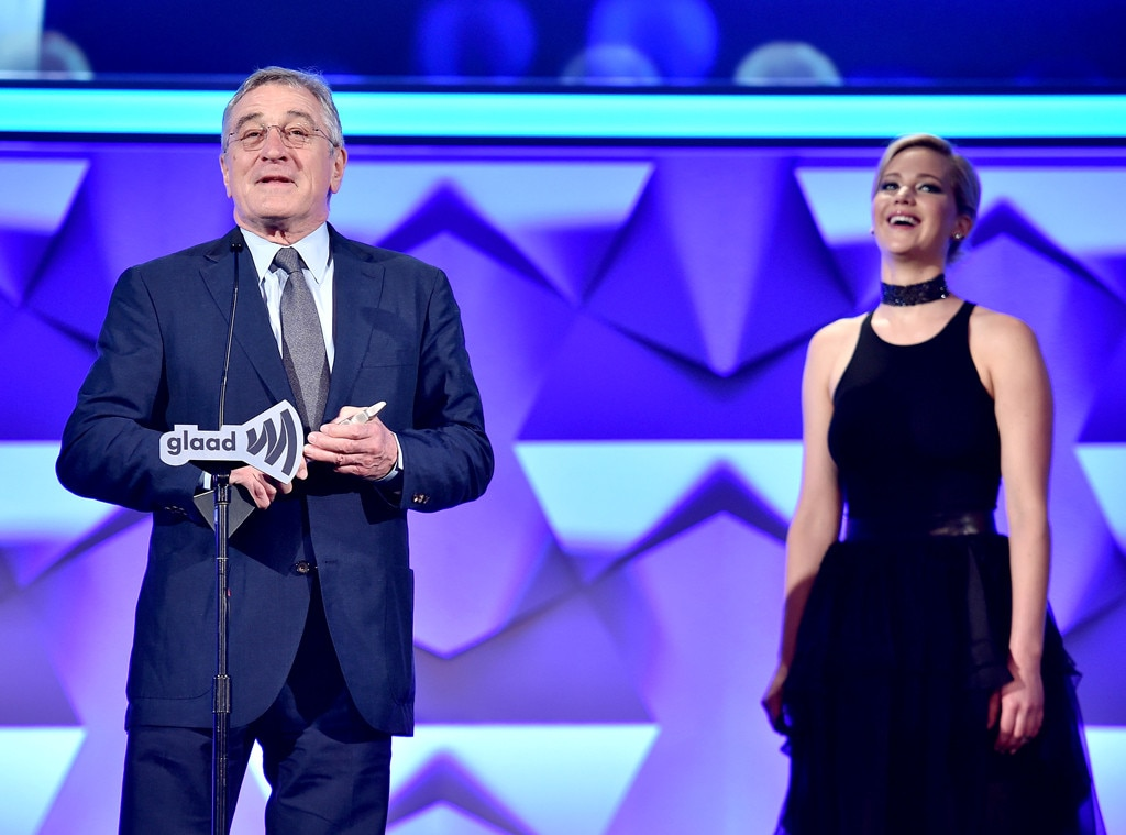 Robert DeNiro, Jennifer Lawrence, GLAAD Media Awards 2016