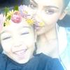 Kim Kardashian, North West, Kanye West, Snapchat