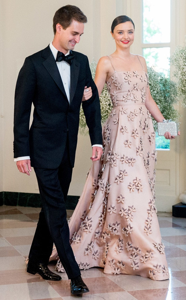 Evan Spiegel with his fiancee Miranda Kerr