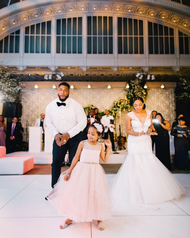 Devon Still, Asha Joyce, Daughter Leah Still, Wedding