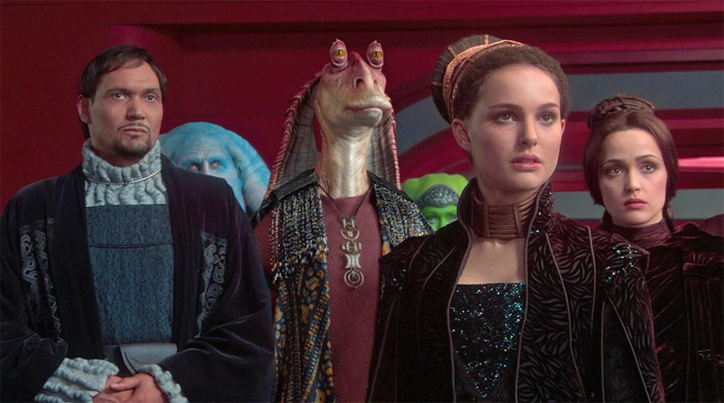 Jimmy Smits, Natalie Portman, Rose Byrne, Star Wars: Episode II - Attack of the Clones