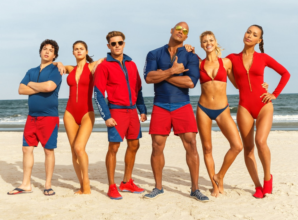 First trailer Baywatch reboot The Rock Zac Efron