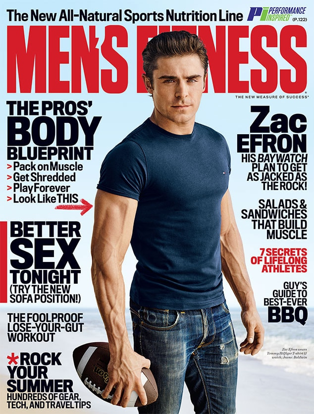 Zac Efron, Men's Fitness, June 2016, Cover