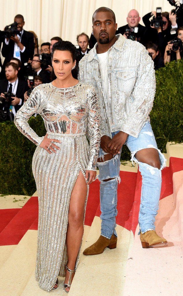 Kanye West, Kim Kardashian, MET Gala 2016, Arrivals, Couples