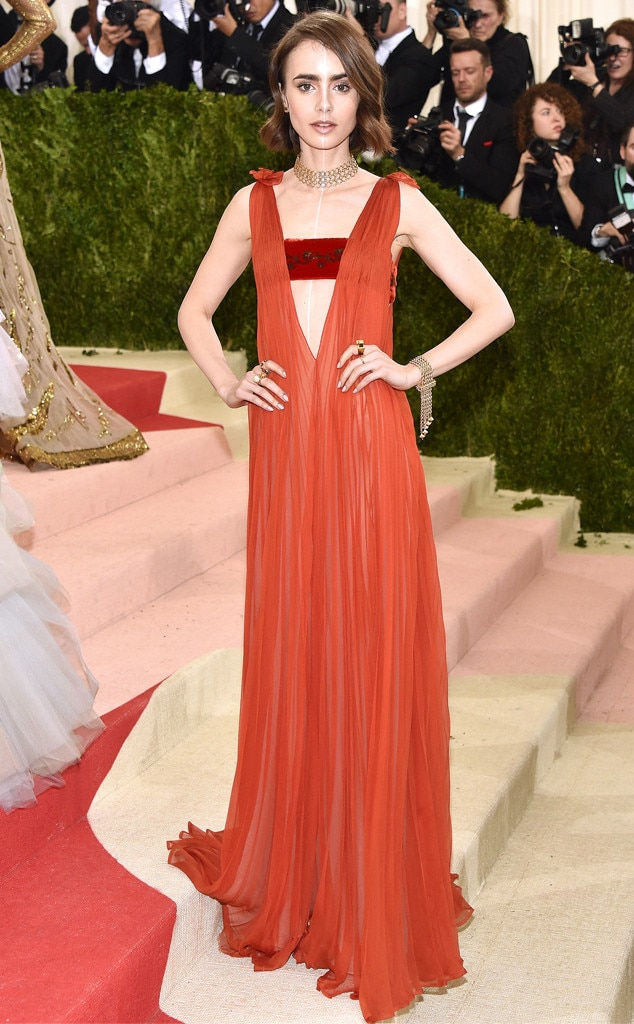 Lily Collins from Met ...