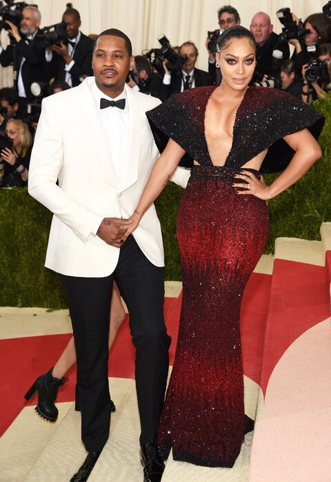 Carmelo Anthony, La La Anthony, MET Gala 2016, Arrivals, Couples
