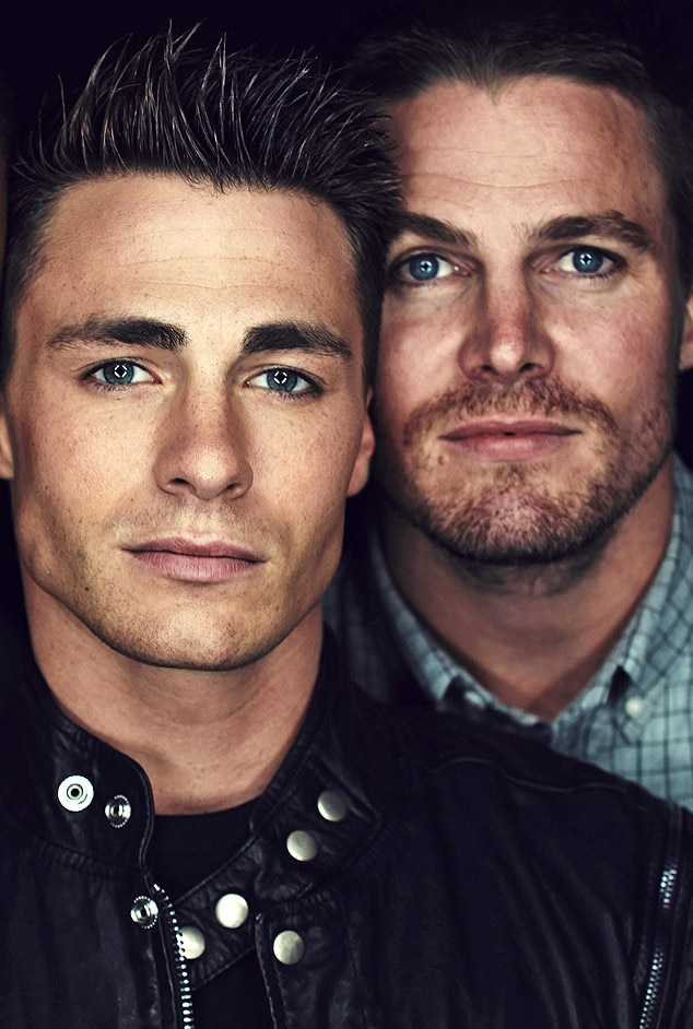 stephen amell 39 39 so happy 39 39 for arrow co star colton haynes for coming out as gay e news. Black Bedroom Furniture Sets. Home Design Ideas