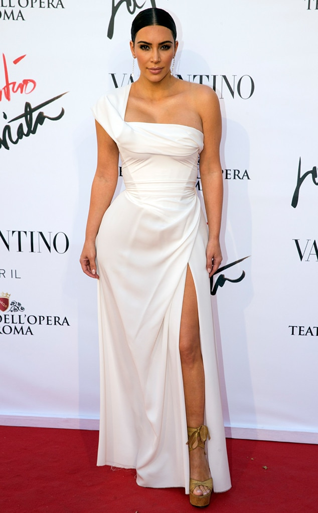 Kim Kardashian Wears Elegant White Gown While Attending Opera in ...