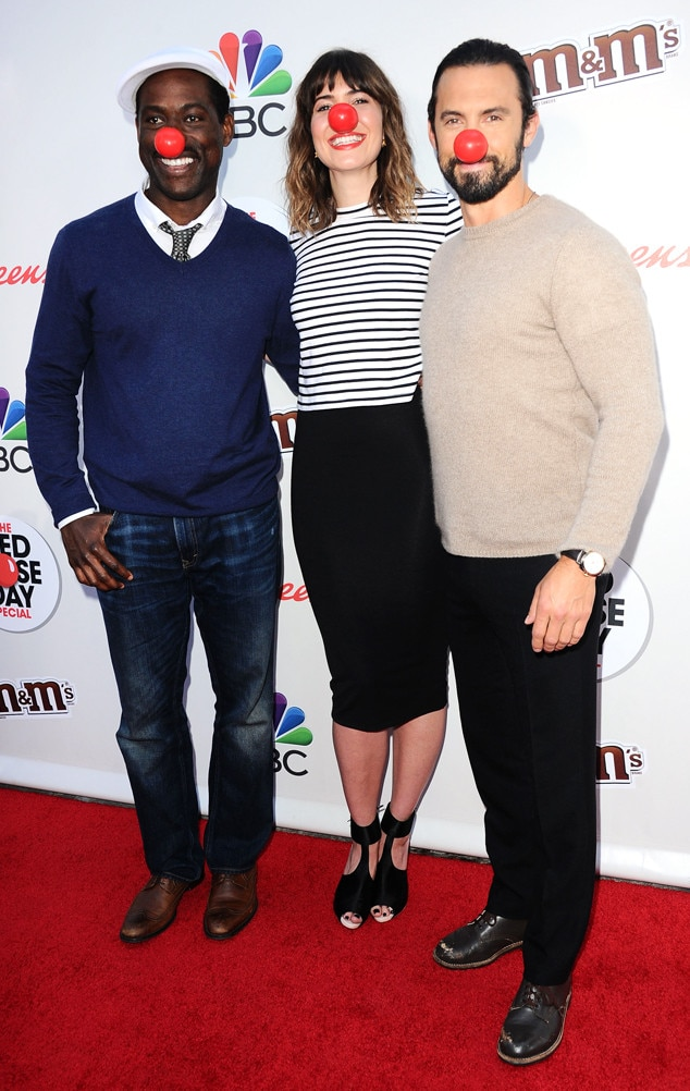 Sterling K. Brown, Mandy Moore, Milo Ventimiglia, Red Nose Day