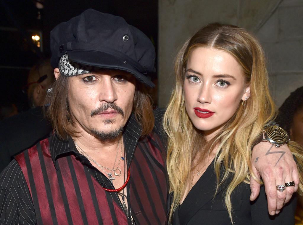 Amber Heard, Johnny Depp, 2016 Grammy Awards, Candids