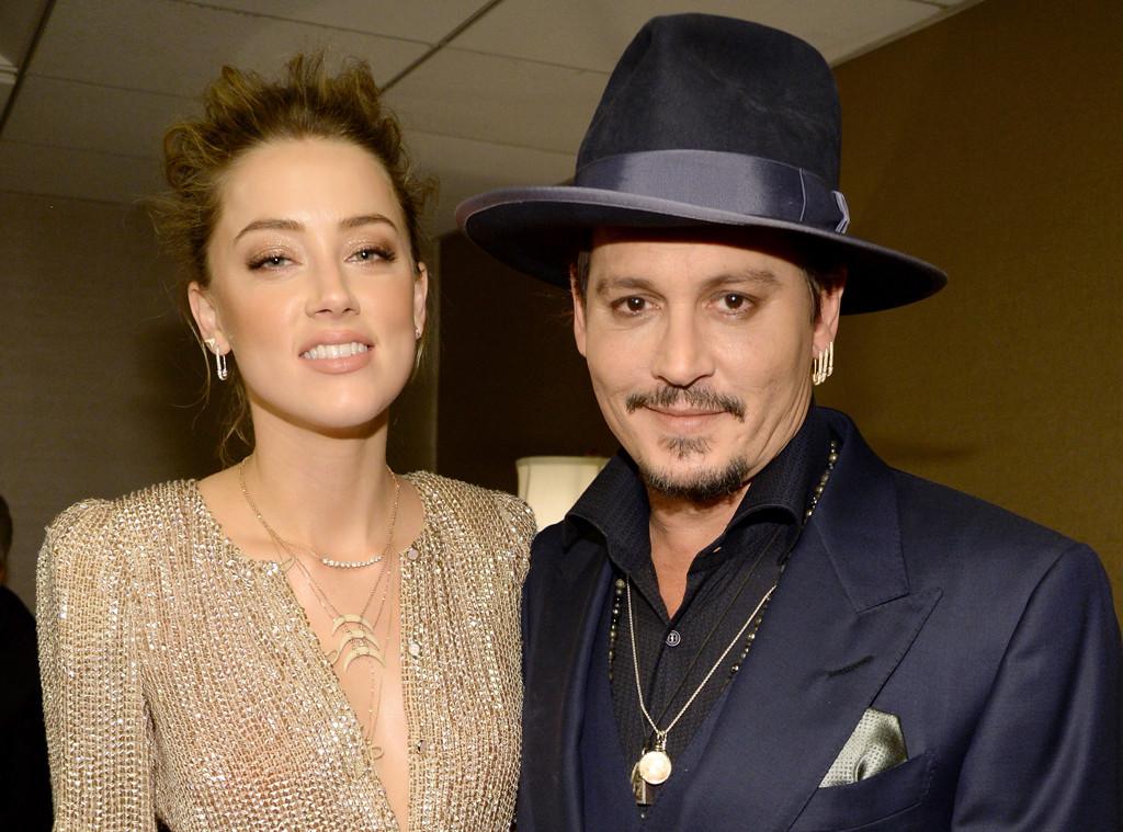 Amber Heard, Johnny Depp,  2015 Hollywood Film Awards, Backstage