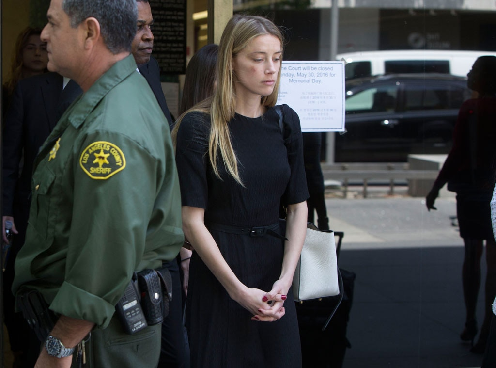 Amber Heard, Leaving Court