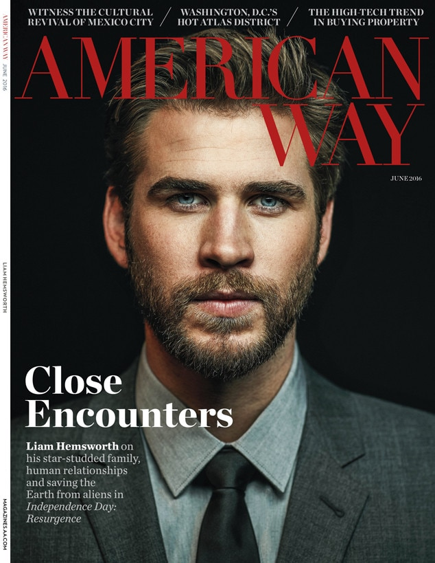 Liam Hemsworth, American Way Magazine