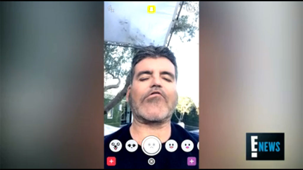 Simon Cowell, Snapchat Filters