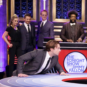 Elizabeth Olsen, Jeremy Renner, Sebastian Stan, Paul Bettany, Questlove, Jimmy Fallon, The Tonight Show