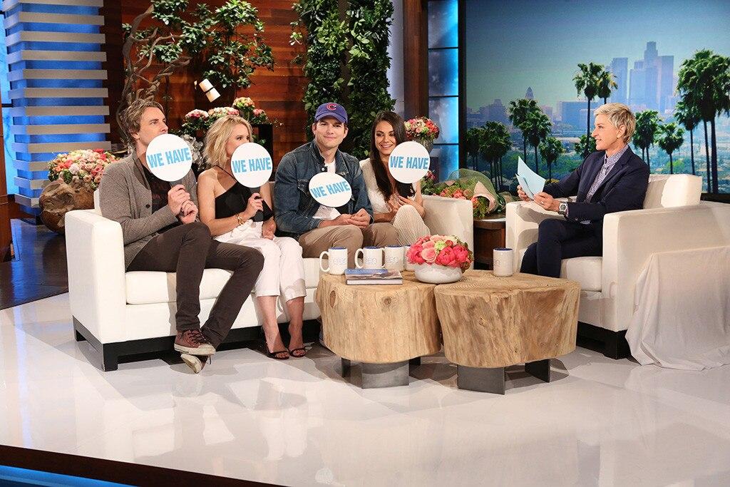 Mila Kunis, Ashton Kutcher, Kristen Bell, Dax Shepard, Ellen DeGeneres