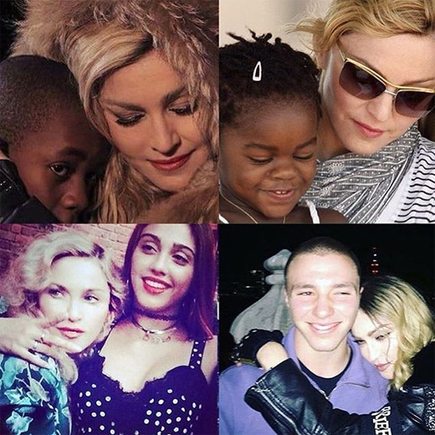 Madonna, Rocco Ritchie, Lourdes Leon, David Banda, Mercy James, Kids, Instagram