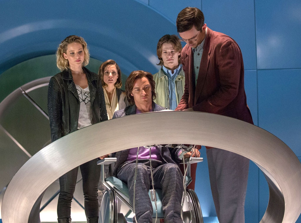 X-Men: Apocalypse, Jennifer Lawrence, Rose Byrne, James McAvoy, Lucas Till, Nicholas Hoult