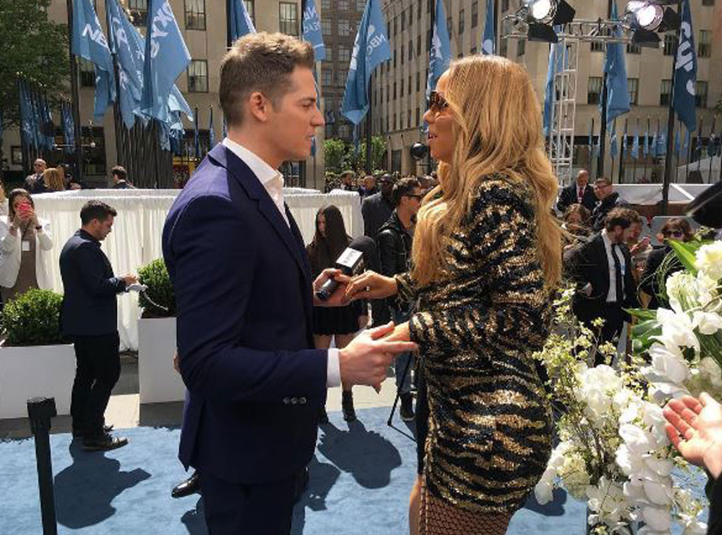 Jason Kennedy, E! News BTS