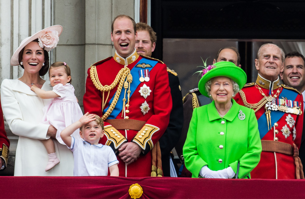 Kate Middleton, Duchess of Cambridge, Princess Charlotte, Prince George, Queen Elizabeth, Prince Philip, Prince Wiliam, Prince Harry