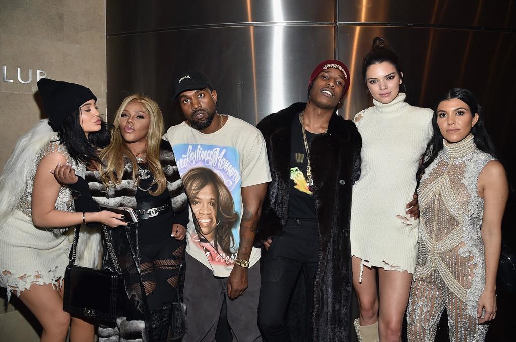 Kylie Jenner, Lil Kim, Kanye West, ASAP Rocky, Kendall Jenner, Kourtney Kardashian