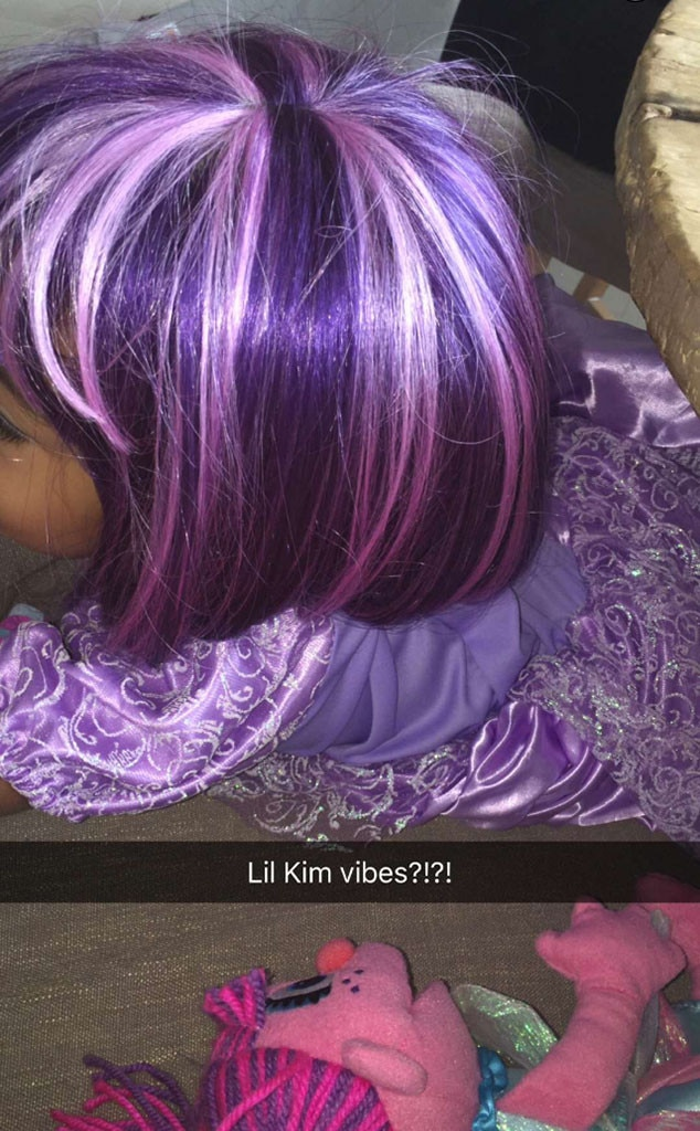 North West, Purple Wig, Snapchat