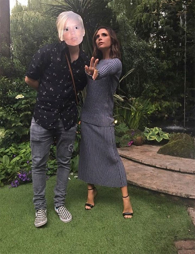 Victoria Beckham, Son Brooklyn Beckham, Mask