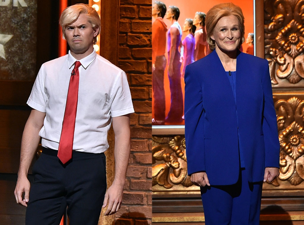 Glenn Close, Andrew Rannells, Donald Trump, Hillary Clinton, 2016 Tony Awards