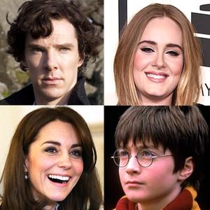 Kate Middleton, Benedict Cumberbatch, Adele, Daniel Radcliff, British Things