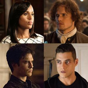 Scandal, Outlander, Vampire Diaries, Mr. Robot