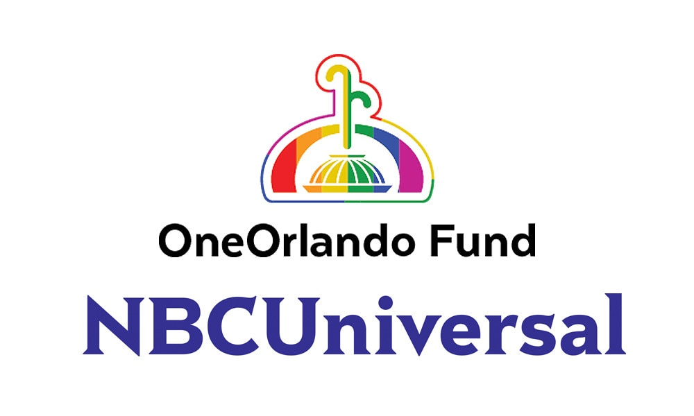 OneOrlando Fund, NBCUniversal Logos