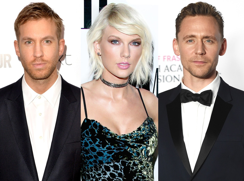 Taylor Swift, Tom Hiddleston, Calvin Harris