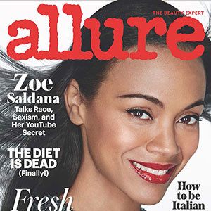 Zoe Saldana, Allure Cover, July 2016