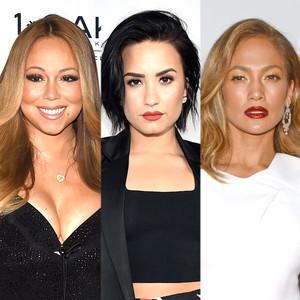 Demi Lovato, Mariah Carey, Jennifer Lopez